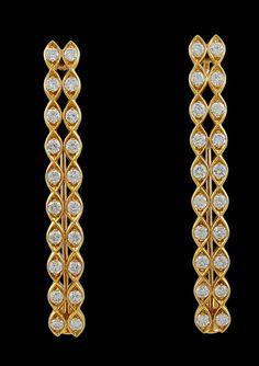 CARTIER 18kt Yellow Gold Diamond Hair Barrets - Yafa Jewelry