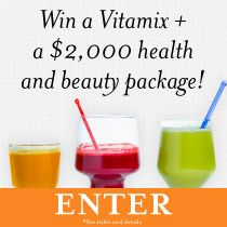 Win a $2,500 health and beauty package: Vitamix blender, $500 toward a gym membership, $500 toward kitchen supplies, a basket of beauty products and $250 credit to shop speciality skincare brands. Ready to feel your best on the inside and out? Enter now: tastingtable.com/fitforfall2014