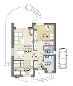 O casă de vis cu mansardă ideală unei familii cu 4 membri, cu o suprafață de 132 m² | stiri.MagazinulDeCase.ro House Outside Design, House Design, Tiny Studio Apartments, House Construction Plan, Sims House Plans, Coffe Table, House Layouts, Floor Plans, Design Inspiration