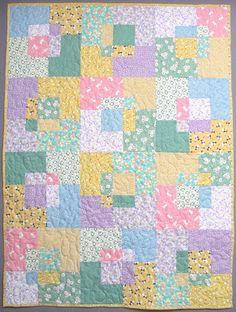 Exuberant Color: Stack & Slash baby quilt