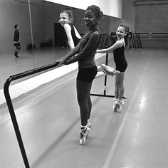 The joy of these dancers recently elevated to #pointe is more than enough to make anyone smile. #dance #ballet Photo by Rhonda Hemsley