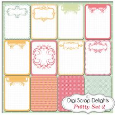 Pretty Pocket Journal Cards Set 2 Project by DigiScrapDelights,