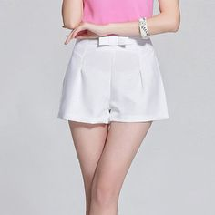 Bow Waist Wide Leg Shorts