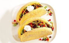 Faux Taco Cakes. Taco Cakes. Don't be fooled—this taco platter has a sweet side! See this cake come together in a magical stop-motion how-to video at the link below. http://parade.condenast.com/53353/tack-richardson/shell-game-make-taco-cakes/
