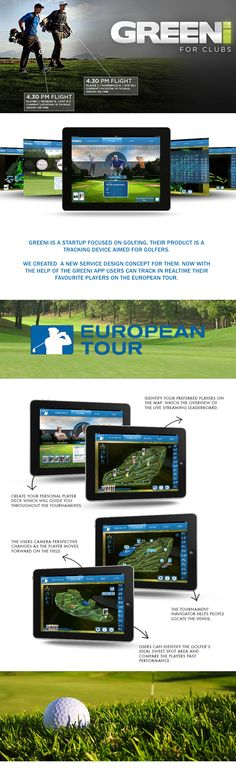GREENi Golf App on Behance Golf Apps, European Tour, Behance, Tours, Club