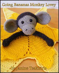 Going Bananas Monkey Lovey - Crochet creation by Neen