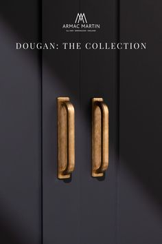 Dougan is a bold collection of Art deco style, luxury kitchen cabinet hardware made from the finest solid brass. This range features subtle ridges to add a touch of definition to each cabinet handle and is perfect to adorn your kitchen or bathroom cabinets. Brass Cabinet Hardware, Cupboard Knobs, Kitchen Cabinet Handles, Brass Handles, Bathroom Design Inspiration, Classic Bathroom, Bathroom Design Luxury, Bathroom Cabinets, Modern Kitchen Design