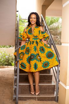 Yellow alfresco African dress