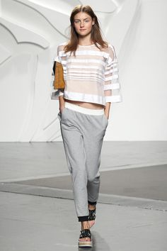 NYFW SS14 Lesson 3: Tibi says you can still wear your Alexander Wang illusion pieces from last spring.