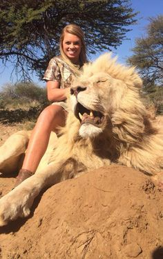 Meet Kendall Jones, a happy huntress, with good looks, a large weapon and her very own dead lion she seems to be the next Melissa Bachman.