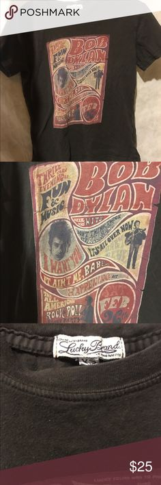 Lucky Brand Bob Dylan Tee Used but good condition. Size XS. Bob Dylan Tour Shirt. Lucky Brand Tops Tees - Short Sleeve