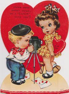 boy photo girl vintage valentine