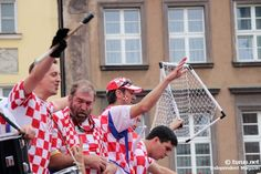 Hrvatska Supporters, Croatia Fans with water polo gate