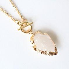 Arrowhead crystal necklace