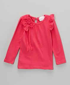 Take a look at this Hot Pink Bows Top - Toddler & Girls by Blossom Couture on #zulily today!