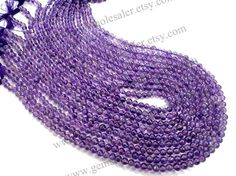 Amethyst African Smooth Round Quality A / 36 by GemstoneWholesaler