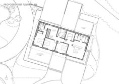 Hawkes Architecture has won the green-light for this 'county house clause' scheme in the Kent countryside Ground Floor Plan, Building Ideas, Floor Plans, How To Plan, Architecture, Arquitetura, Architecture Illustrations, Floor Plan Drawing, House Floor Plans