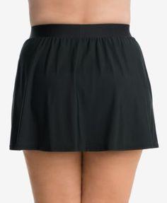 Miraclesuit Plus Size Swim Skirt Women Swimsuit - Swim Skirt - Ideas of Swim Skirt - - Miraclesuit Plus Size Swim Skirt Black Tight Dresses, Plus Size Dresses, Plus Size Outfits, Wrap Dresses, Swim Skirt, Swim Dress, Trendy Plus Size, Plus Size Women, Blue Jean Dress