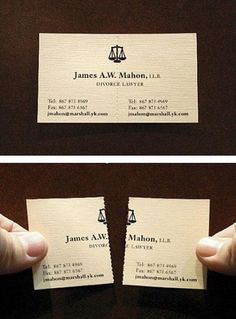 Divorce lawyer,business card