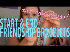 Different options for finishing and securing your friendship bracelets! If you're new to making friendship bracelets, learn the four types of knots here befo...
