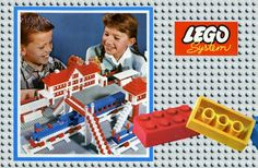 Lego System Set Box from Vintage Lego, My Childhood Memories, Childhood Toys, History Of Lego, Old Fashioned Toys, Classic Lego, Lego Boxes, 1960s Toys, Lego System