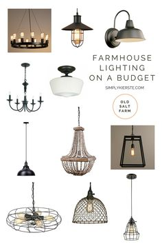 Farmhouse Lighting on a Budget - Page 2 of 3 - Simply Kierste Design Co. Farmhouse Lighting, Farmhouse Decor, Cottage Lighting, Farmhouse Remodel, Farmhouse Interior, Country Decor, Farmhouse Style, Exterior Lighting, Home Lighting
