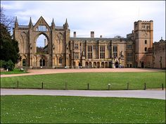 Newstead Abbey in Nottingham, England.  It was inherited by Lord Byron; he lived here only briefly, but the Abbey contains a whole collection of his items.  I want to go back...