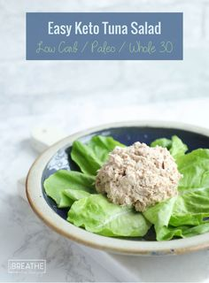 An easy keto tuna salad that takes 2 minutes to make and requires no chopping! Paleo, Whole Low Carb An easy keto tuna salad recipe that takes 2 minutes to make and doesn't require any chopping! Kid friendly, low carb, paleo, whole 30 and Atkins approved! Super Healthy Recipes, Healthy Salad Recipes, Healthy Foods To Eat, Paleo Recipes, Healthy Snacks, Healthy Eating, Paleo Whole 30, Whole 30 Recipes, Nutrition Education