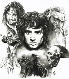 LOTR: The Fellowship Artwork by choffman36