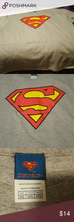 Brand new Superman shirt 2xl men's... Superman shirt... New, was to big for my husband... Bought online from Walmart, smoke free, pet free home  $14 obo superman Shirts Tees - Short Sleeve