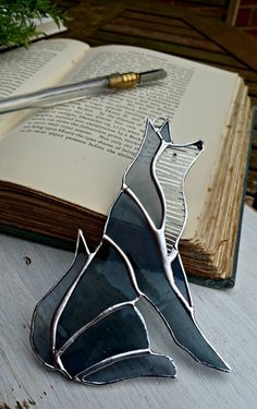 Stained Glass Wolf