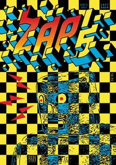 Zap Comix No. 15 Zap Comix by Artists, Various Zap Comics, Horror Comics, Comic Book Artists, Comic Books, Comic Art, Gilbert Shelton, City Lights Bookstore, Victor Moscoso, Corny Puns