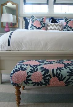 diy bench & diy matching pillows--