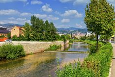 Miljacka river by day, Sarajevo, Bosnia and Herzegovina Sarajevo Bosnia, Famous Places, Bosnia And Herzegovina, Travel Photos, Fine Art America, Golf Courses, River, Outdoor, Beautiful