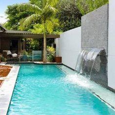 Cascata em fibra de vidro para piscina. Melhor preço - Cascatas & Cia