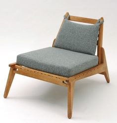 Anonymous; Teak and Cord Lounge Chair, 1950s.