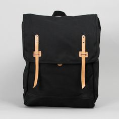 Makr Blaack Canvas Farm Ruck Sack