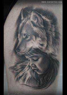 Niña lobo tattoo