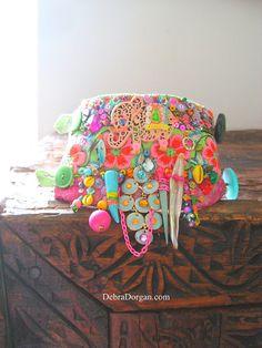 Elephant Monsoon Gypsy Bracelet Bohemian Gypsy by AllThingsPretty