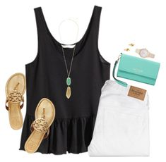 """""""Mint Chocolate Chip"""" by sc-prep-girl ❤ liked on Polyvore featuring H&M, Abercrombie & Fitch, Kendra Scott, Tory Burch, Kate Spade and Balenciaga"""