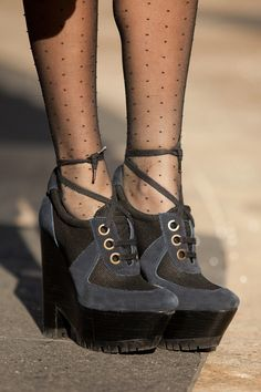 Perfection! Leandra Medine's Burberry booties at NYFW.