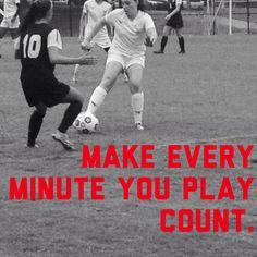 Soccer is my daughter's passion.