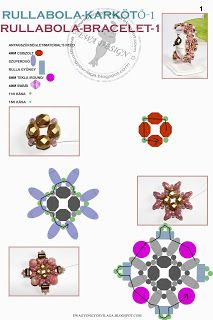 Ewa gyöngyös világa!: Rullabola karkötő-1 minta / Rullabola bracelet-1 pattern