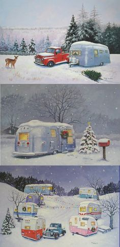 Airstream Christmas village, lol. Cuuute..