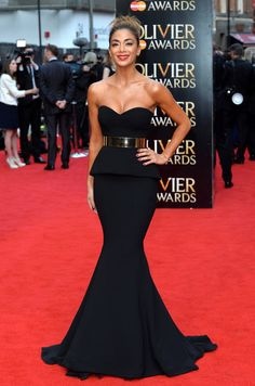 Nicole Scherzinger Strapless Dress - Nicole Scherzinger looked absolutely flawless at the Olivier Awards in this breathtaking Galia Lahav strapless peplum gown.