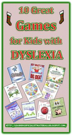 Learning Specialist and Teacher Materials - Good Sensory Learning: 10 Great Games for Students with Dyslexia