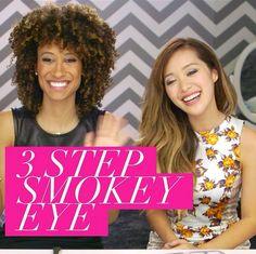 3 Steps to Smokey Eyes