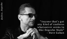 """Anyone that's got any kind of coolness whatsoever seems to like Depeche Mode"" - Dave Gahan #depechemode #davegahan #music #martingore #andyfletcher #globalspirittour #coolness #cool #tour #livemusic"