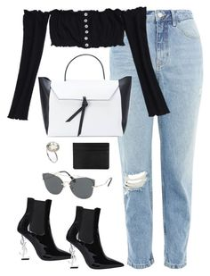 """""""Untitled #3811"""" by theaverageauburn ❤ liked on Polyvore featuring Topshop, Alexandra de Curtis, Miu Miu and Yves Saint Laurent"""
