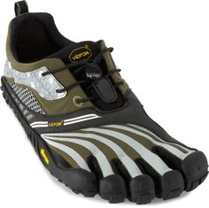 Aggressive traction & terrain protection make these ideal for trail-running—Vibram FiveFingers Spyridon LS Trail-Running Shoes.